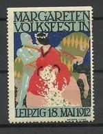 DEUTSCHLAND 1912 Margaretenfest Leipzig Werbemarke * - Vignetten (Erinnophilie)