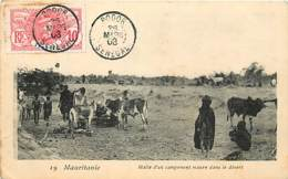 MAURITANIE HALTE D'UN CAMPEMENT MAURE DANS LE DESERT - Mauritanie