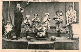 (85)  CPA Les Roi De La Musique  Souvenir De La Famille Du Vieux Papa Becquelin   (Bon état) - Musique Et Musiciens