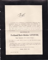 ALOST AALST Ferdinand LEFEBVRE Major Garde Civique 1839-1892 Famille Van LANGENHOVE - Décès