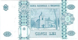 Moldavia - Moldova 5 Leu 2009 Pick 9f UNC - Moldavie