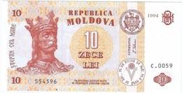 Moldavia - Moldova 10 Leu 1994 Pick 10a UNC - Moldavie