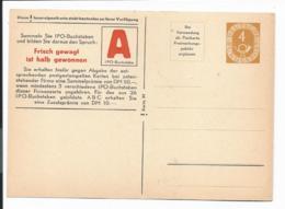 Bund PP 2 B1 / 12a ** - 4 Pf Posthorn, Buchstabenkarte 'A' - BRD