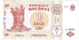 Moldavia - Moldova 10 Leu 2006 Pick 10e UNC - Moldova