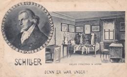 SCHILLER. DENN ER WAR UNSER! SCHILLER'S STERBEZIMMER IN WEIMAR. MAX SCHNELLE. CIRCA 1920s - BLEUP - Schrijvers