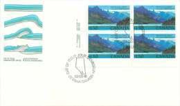 1982  Waterton Lakes National Park $1.50 Definitive  Sc 935  Inscription Block Of 4 - Omslagen Van De Eerste Dagen (FDC)