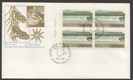 1979  Fundy National Park  $1 Definitive Sc 726  Plate Block Of 4 - Omslagen Van De Eerste Dagen (FDC)