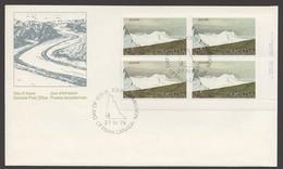 1979 Kluane National Park  $2 Definitive  Sc 727   Plate Block Of 4 - Omslagen Van De Eerste Dagen (FDC)
