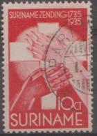 SURINAM - 1935 10c Moravian. Scott B21. Used - Surinam ... - 1975