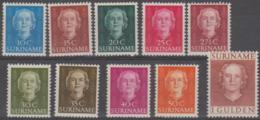 SURINAM - 1951 Queen Juliana. Scott 243-252. Mint Light Hinge * - Surinam ... - 1975