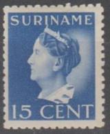 SURINAM - 1941 Queen Wilhelmina. Scott 175. Mint Light Hinge * - Surinam ... - 1975
