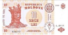 Moldavia - Moldova 10 Leu 2009 Pick 10f UNC - Moldavie