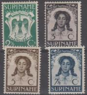 SURINAM - 1938 Abolition Of Slavery. Scott B26-29. Mint Light Hinge * - Surinam ... - 1975