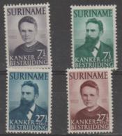 SURINAM - 1950 Cancer Charity. Scott B49-52. Mint Very Lightly Hinged * - Surinam ... - 1975