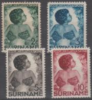 SURINAM - 1936 Green Cross. Scott B22-25. Mint * - Surinam ... - 1975