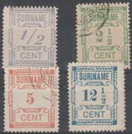 SURINAM - 1912 Numerals. Scott 70-73. Two Mint, Two Used - Surinam ... - 1975