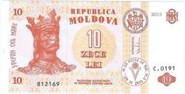 Moldavia - Moldova 10 Leu 2013 Pick 10g UNC - Moldavie