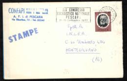 ITALIA - MARCOFILIA - 27.VIII.1977 - XIX CONGRESSO EUCARISTICO NAZIONALE PESCARA 11-18 SETTEMBRE 1977 - 6. 1946-.. Repubblica