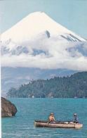 CHILE. LAGO TODOS LOS SANTOS, MONTAÑA OSORNO. PANAGRA SKY CARD ADVERTISING. CHILE. NON CIRCULEE CIRCA 1960s - BLEUP - Chili