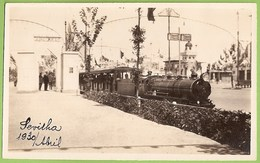 Sevilla - REAL PHOTO - Feria - Ferrocarril - Train - Railway Station - Chemin De Fer - Gare - Andalucia - España - Gares - Sans Trains