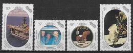 LIBERIA  1969  NASA-APOLLO   YVERT  1128-1131   MNH  XF - Liberia