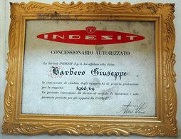 INDESIT CONCESSIONARIO AUTORIZZATO 1968 - Diplômes & Bulletins Scolaires