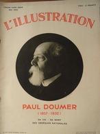 MORT (PAR ASSASSINAT) DU PRÉSIDENT DE LA RÉPUBLIQUE PAUL DOUMER (1857-1932) Revue L'ILLUSTRATION Hors-Série Mai 1932 - Histoire