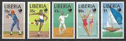 LIBERIA  1988  GIOCHI OLIMPICI   YVERT  1100-1103  MNH - Liberia