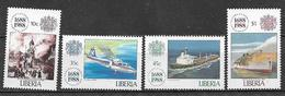 LIBERIA  1988 COMPAGNIA DI ASSICURAZIONE Lloyd   YVERT 1110-1113   MNH  XF - Liberia