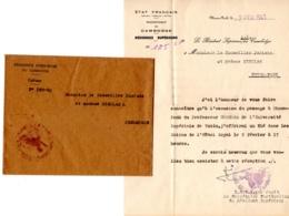 """PROTECTORAT CAMBODGE Phnom-Penh, Le Résident Supérieur, Le Passage De """" UMEHARA"""" Université Impérial TOKIO - Faire-part"""