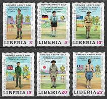 LIBERIA  1971  SCOUT  YVERT 534-539  USATA  VF - Liberia