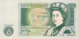 Billet  De Banque England  1 Pound - 1952-… : Elizabeth II