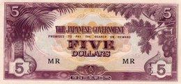 MALAYA JAPANESE GOV,=N/D   5  DOLLARS    P-M-6   UNC - Banknotes