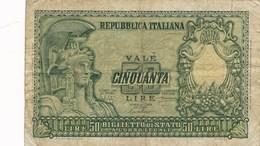 Billet  De Banque  50 Lire Italia Italie - [ 2] 1946-… : République