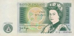 Billet  De Banque  Bank Of England  1 Pound - 1 Pound