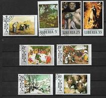 LIBERIA 1969 QUADRI DIVERSI YVERT. 478-485 USATA VF - Liberia