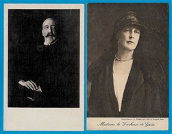 CPA (Lot De 2) Couple : Le Duc & La Duchesse De GUISE * Royauté Histoire Noblesse - Royal Families