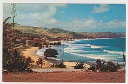 1184/ BARBADOS Batsheba Coast. Sent To USA With Netherlands Antilles Stamp. Circulée Avec Timbre Antilles Néerlandaises. - Barbados