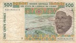 Billet De Banque  Afrique De L' Ouest  500 Francs - États D'Afrique De L'Ouest