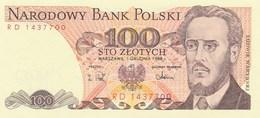 Billet De Banque  100  Zlotych  Bank Polski - Pologne