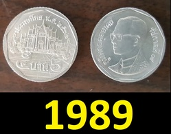 Thailand Coin Circulation 5 Baht Year 1989 UNC - Thaïlande