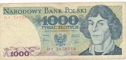 Billet De Banque  Pologne  Polski 1000 Tysiac Zlotych - Pologne