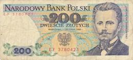 Billet De Banque  Pologne  Polski 200 Dwiescie  Zlotych - Pologne