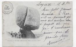 (RECTO / VERSO) CASTRES EN 1903 - ROCHERS DU SIDOBRE AVEC PERSONNAGES - CACHET AMBULANT TRI FERROVIAIRE - CPA - Castres
