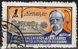 Spain 1945 - Beneficienca : Colegio De Huerfanos De Telegrafos - David Hughes - Bienfaisance