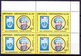 Grenada Gr. 1985 MNH Blk, Maimonides, Jewish Philosopher, Physician, Rt Up Corner - Médecine