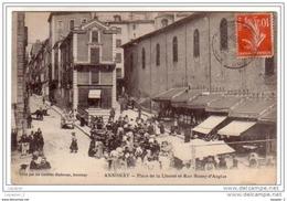 07 ANNONAY Place De La Liberté Et Rue Boissy - D´Anglas CPA Ed Galeries Modernes - Annonay
