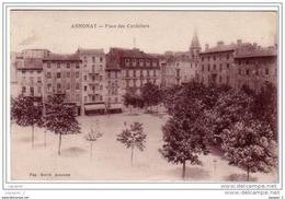 07 ANNONAY Place Des Cordeliers CPA ED. Pap. Hervé. - Annonay
