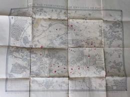 """Carte Extraite Du """"guide Des Promeneurs Aux Environs De Paris"""" édition Bernard Années 1850 - Cartes Topographiques"""