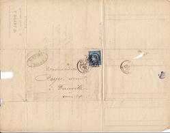 Lettre Rouen 1872 L. Duval Sr. Rue Aux Ours Seine Maritime Ancienne Maison Lalonde & Grossier Fauville - 1871-1875 Ceres